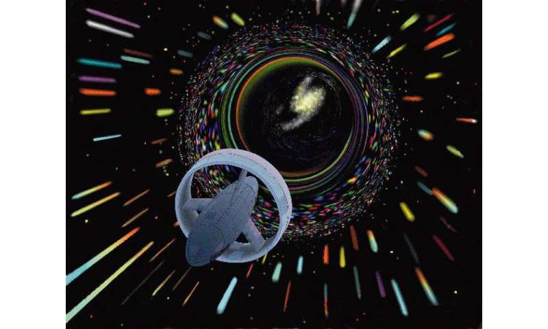 One theory beyond the standard model could allow wormholes that you could actually fly through