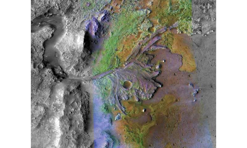 On February 18 2021, Perserverance should land in the Jezero Crater, home to an ancient river that fanned out into a lake betwee
