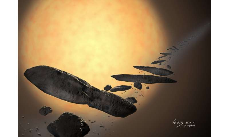 Origin of the first known interstellar object 'Oumuamua