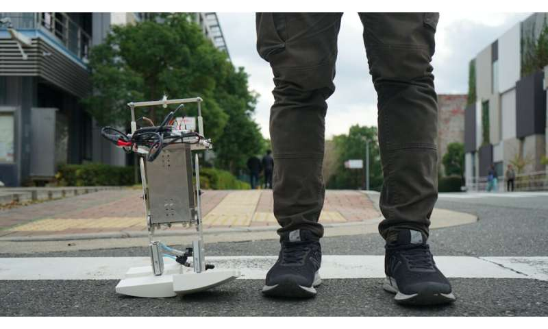 PedestriANS: A bipedal robot that adapts its walking style in response to environmental changes