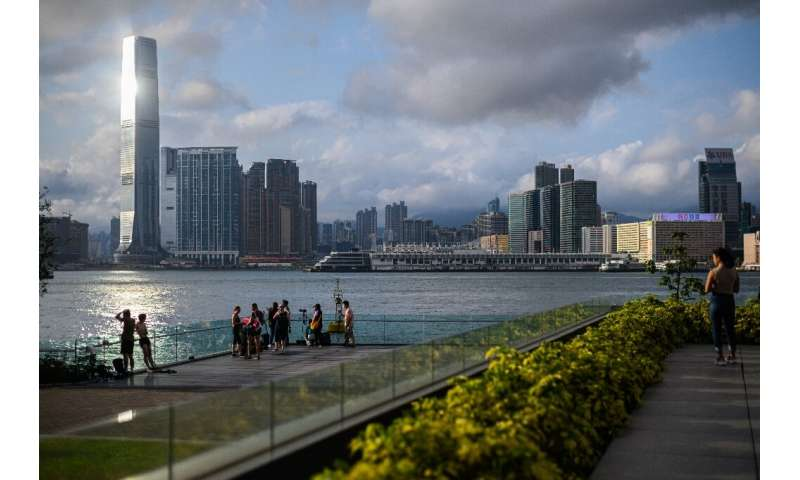People celebrated the return of some normalcy to Hong Kong as gyms and bars opened on Friday