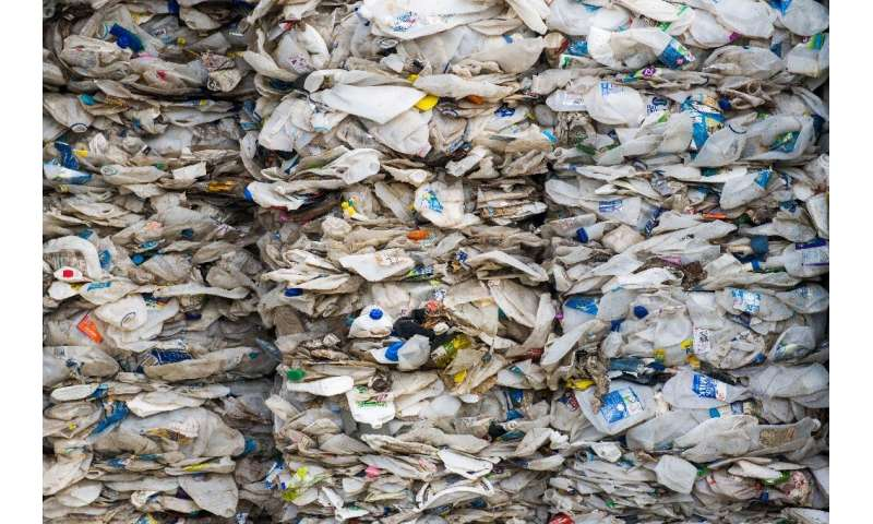 Plastic waste from Australia is shipped back from Malaysia via Port Klang, west of Kuala Lumpur