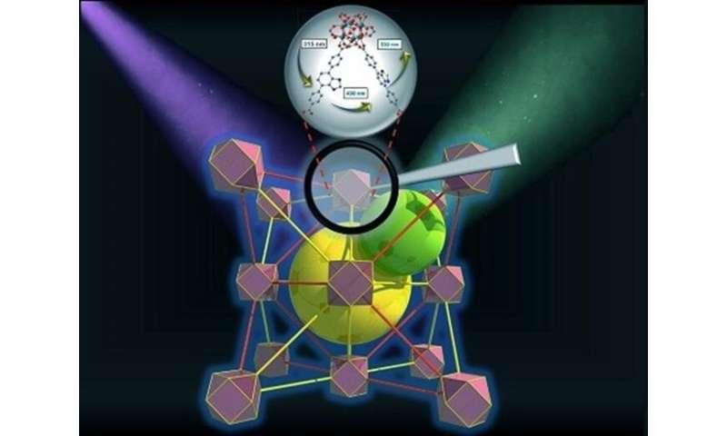 Porous crystals harvest light