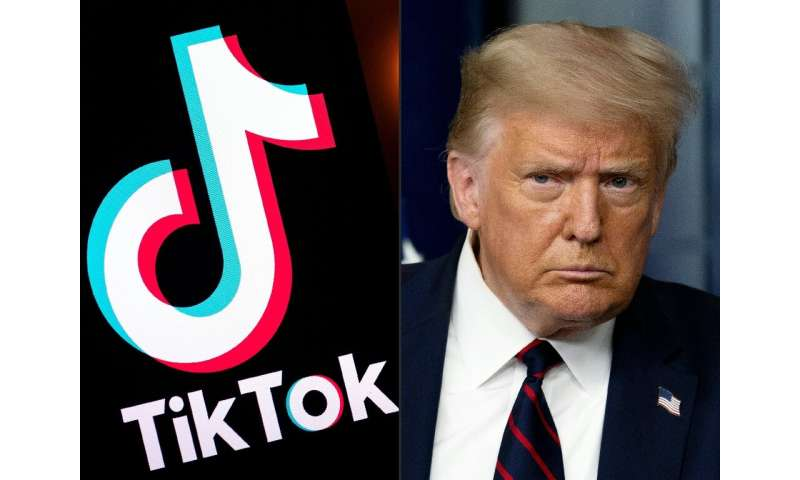 President Trump claims TikTok could be used by China to track the locations of federal employees, build dossiers on people for b