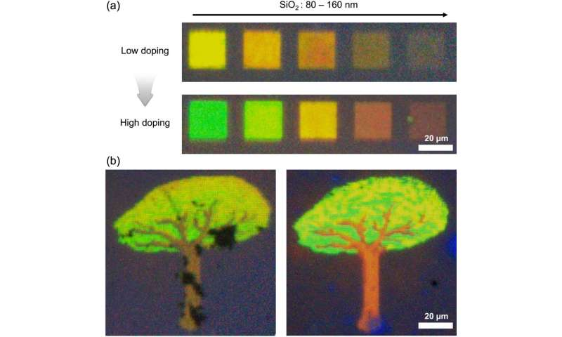 Producing technicolor through brain-like electronic devices
