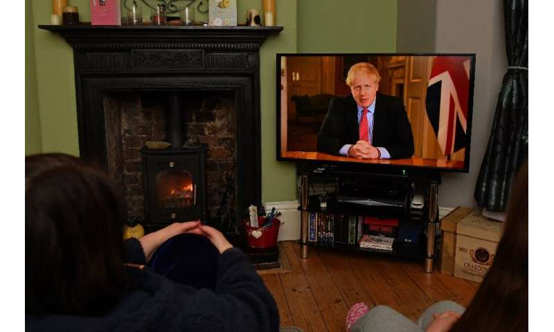 """""""Stay at home,"""" Prime Minister Boris Johnson said in a televised address to the nation, as he unveiled unprecedented p"""
