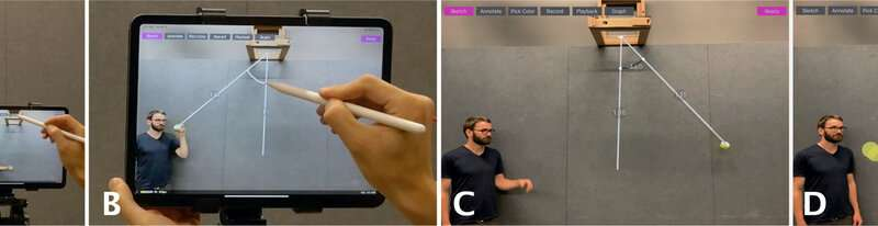 RealitySketch: Antarmuka AR untuk membuat sketsa responsif