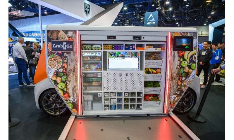 Rinspeed's concept vehicle MetroSnap, seen at the 2020 Consumer Electronics Show, can be adapted to users' needs
