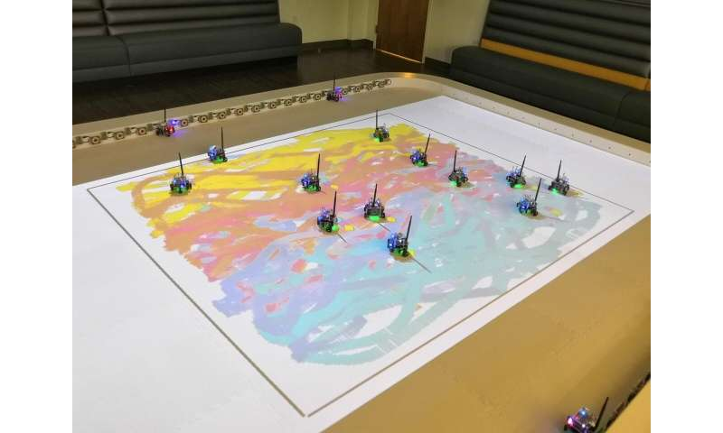 Robot swarms follow instructions to create art