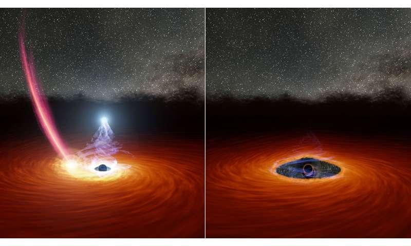 Une star en fuite pourrait expliquer l'acte de disparition du trou noir