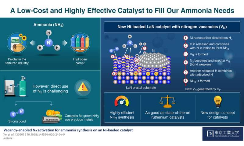 Running on empty: New affordable catalyst relies on nitrogen vacancies to produce ammonia