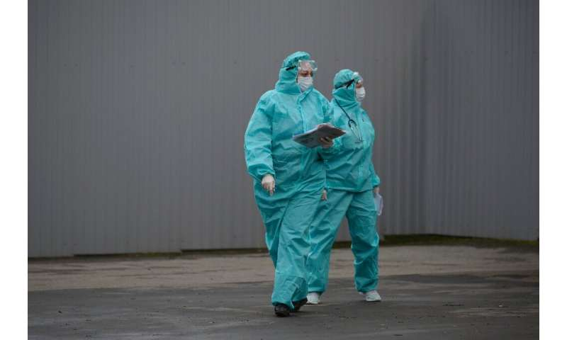 Russia again surpassed its record for daily infections