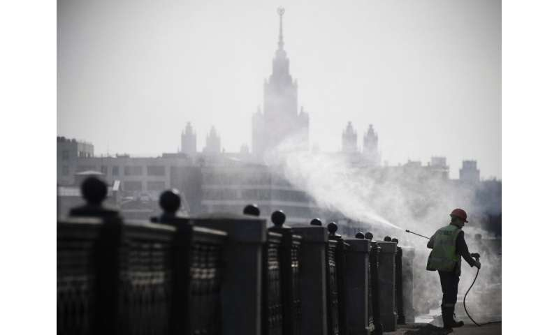 Russia, where municipal workers are disinfecting Moscow's streets, gas now closed its border to slow the spread of coronavirus