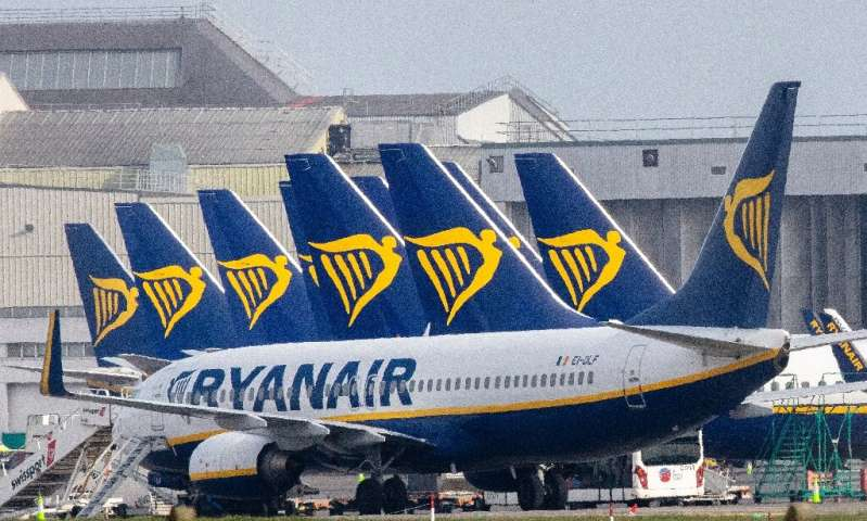 Ryanair's passenger numbers for June have fallen by 97 percent