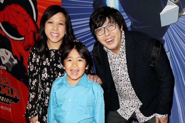 Ryan Kaji, pictured here with his parents attending a film premiere, was YouTube's highest-paid creator in 2019.