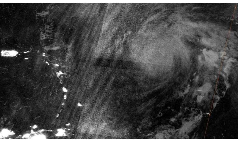 Satellite catches nighttime view of major hurricane Teddy