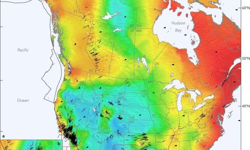 Seismic map of North America reveals geologic clues, earthquake hazards