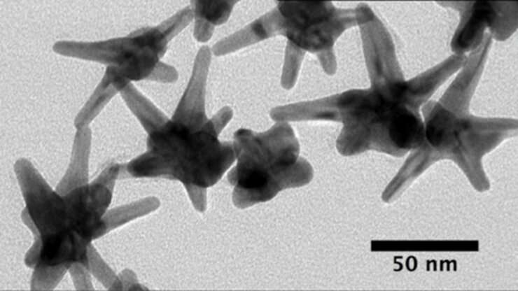 Silver-plated gold nanostars detect early cancer biomarkers