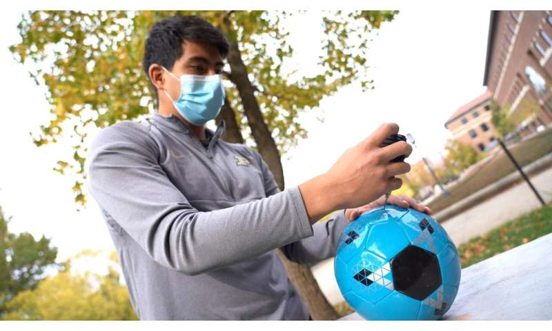Soccer players' head injury risk could be reduced with simple adjustments to the ball
