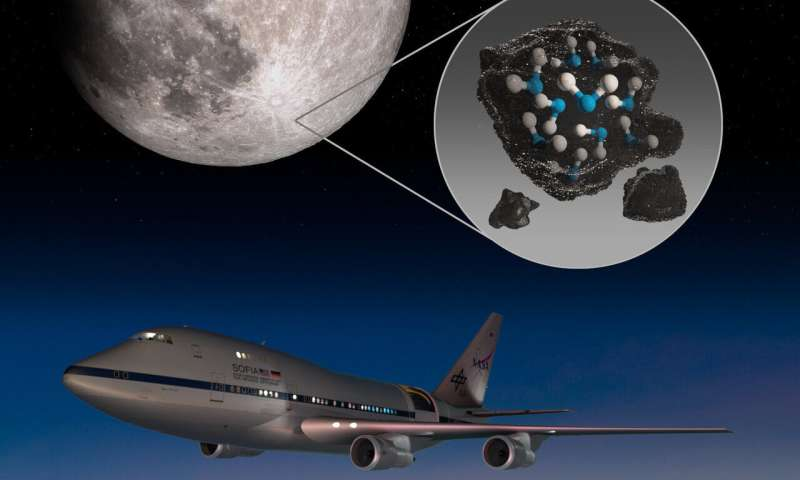 SOFIA discovers water on sunlit surface of moon