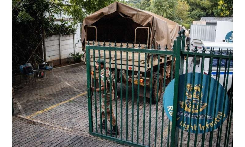 """South Africa announced a three-week lockdown """"to avoid a human catastrophe"""" with soldiers patrolling the streets to en"""