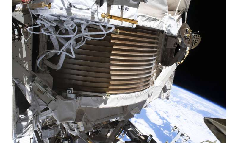 Space station's cosmic detector working after 4 spacewalks