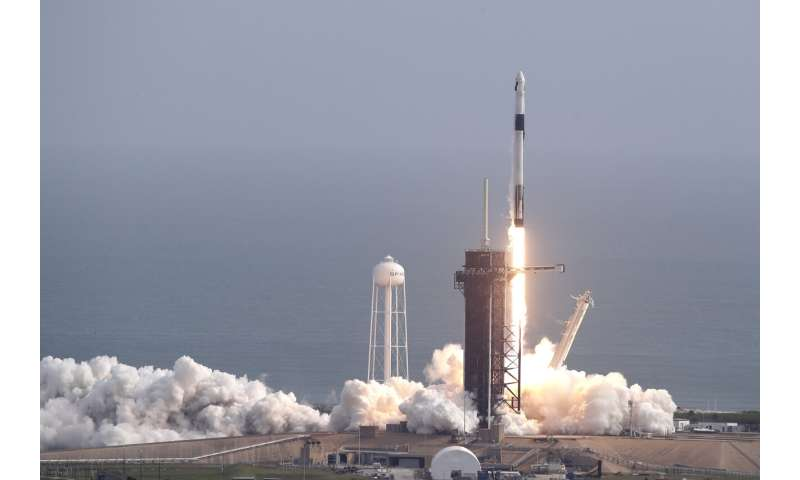 SpaceX launches, destroys rocket in astronaut escape test Spacexlaunch