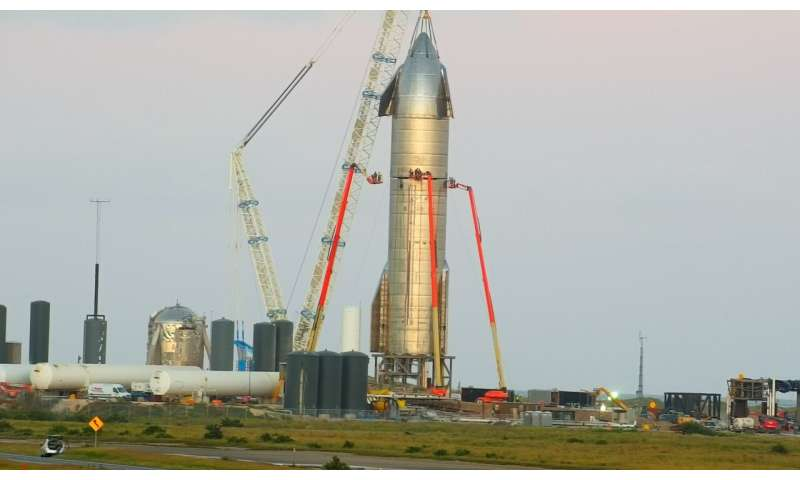 SpaceX starship passes static fire test with three raptor engines, finally gets nose cone