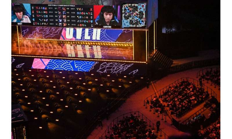 Spectators saw the action unfold on two giant screens