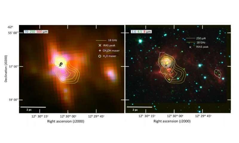 Star-forming region IRAS 12272-6240 probed in infrared