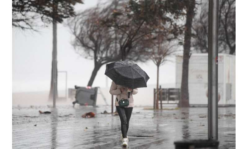Storm Gloria hit the region on Sunday, bringing strong winds, torrential rains and heavy snow