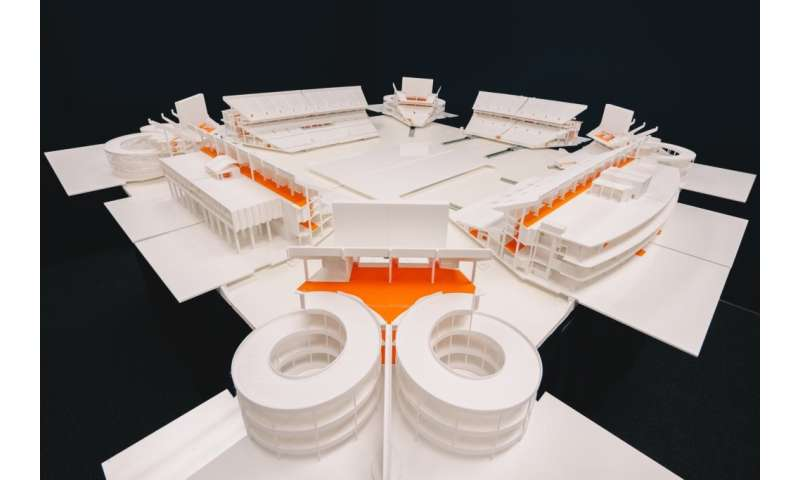 Student-designed 3-D-printed model of stadium helps police prepare for Super Bowl