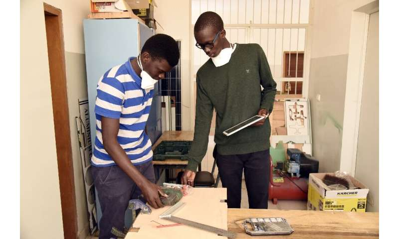 Students at Dakar's Ecole Superieur de Polytechnique (ESP) engineering school are taught to focus on practical projects and entr