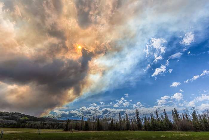 Study finds less impact from wildfire smoke on climate