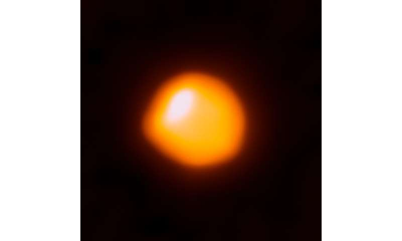 Supergiant star Betelgeuse smaller, closer than first thought