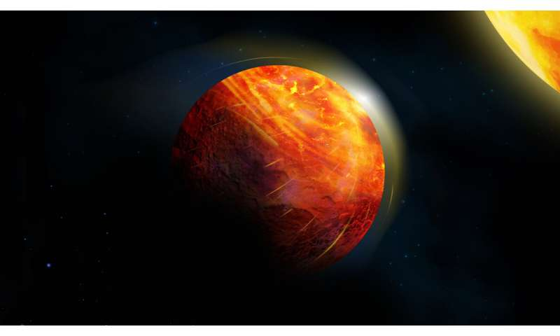 Ultrasonic winds, hail are predicted on planet lava