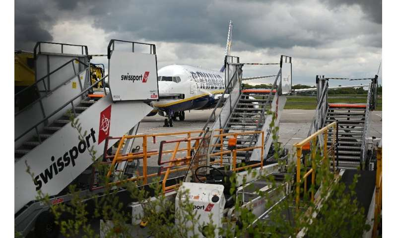 Swissport will have less need for its stairs and cargo trolleys as airline traffic remains depressed