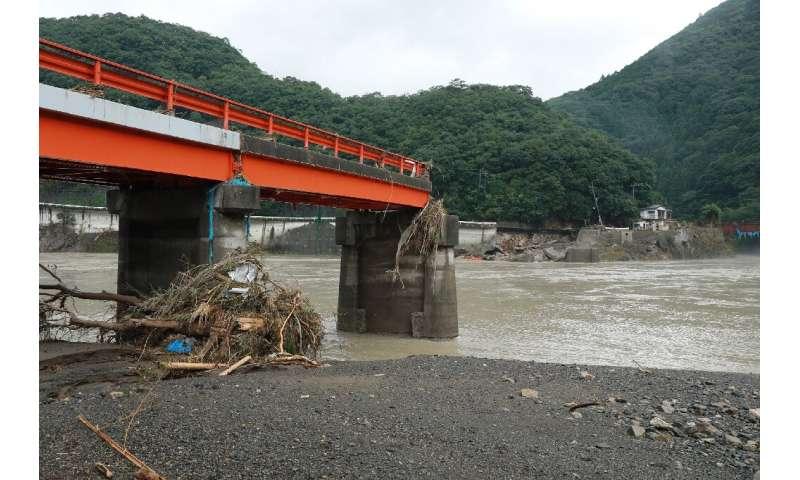 Swollen rivers have swept away bridges