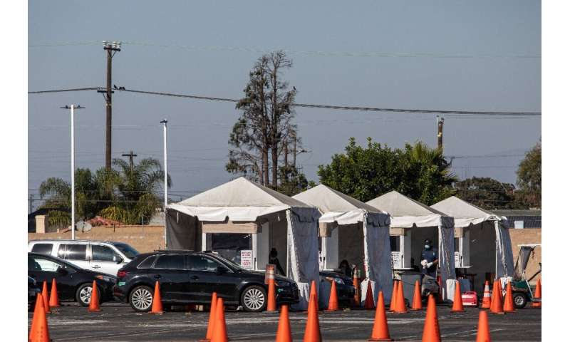 Testing including at drive-in sites has revealed a million new cases in less than a week in the US