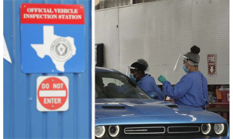 Texas passes 10,000 confirmed new virus cases in single day
