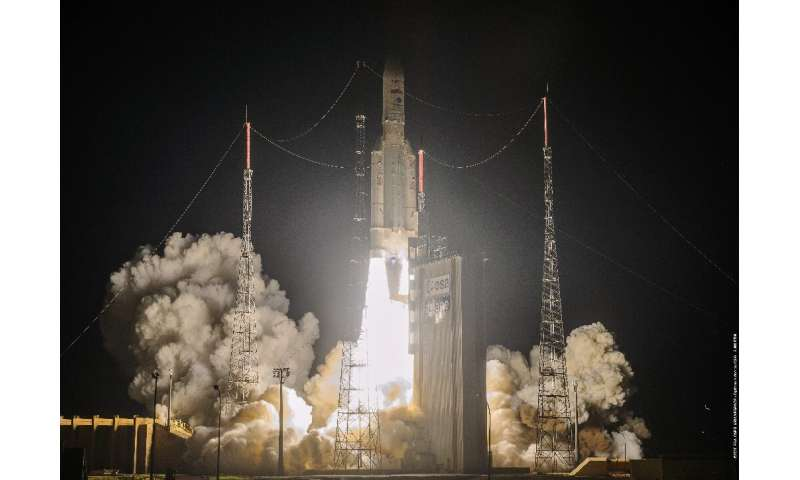 The Ariane 5 rocket was launched from French Guiana and successfully placed two communications satellites into orbit