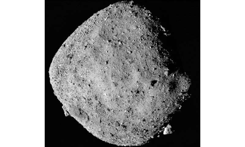 The asteroid Bennu, as photographed by OSIRIS-REx, on December 2, 2018