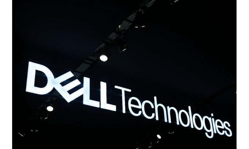 The Dell Technologies logo is displayed at the Mobile World Congress (MWC) in Barcelona on February 26, 2019.Phone makers will f