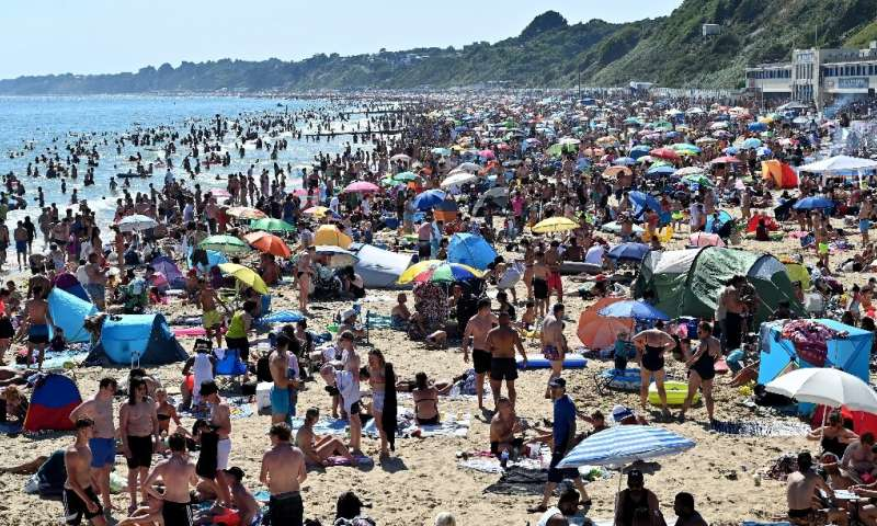 The local council in Bournemouth, England, declared a major incident after thousands flocked to the beach