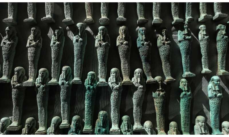 The ministry also unveiled 10,000 blue and green ushabti (funerary figurines)