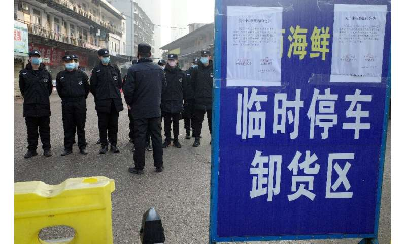 The outbreak centred around a seafood market in the central city of Wuhan