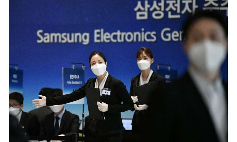 The pandemic is wreaking havoc across the global economy and Samsung had operations suspended at 11 overseas assembly lines as o