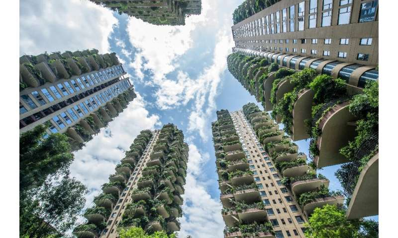 The project was meant to provide residents life in a 'vertical forest'