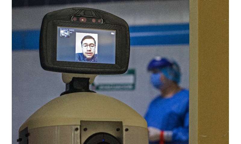 The robot has computer vision enabling it to recognize people