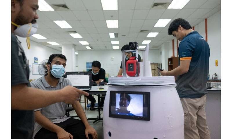 The robot was built by scientists at the International Islamic University Malaysia